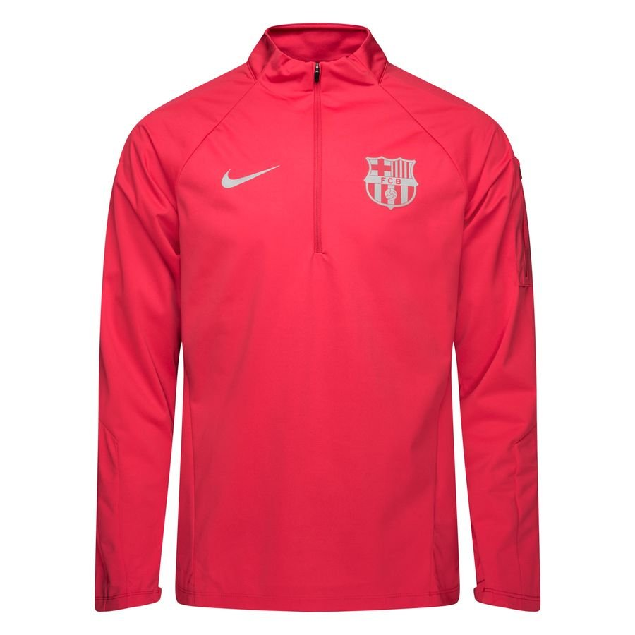 the latest 7d5c2 6a8f0 Barcelona Training Shirt Shield Squad 1/4 Zip - Tropical Pink