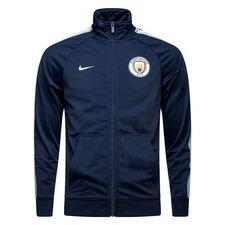 manchester city træningsjakke fz nsw - navy/blå - jakker