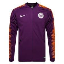 manchester city træningsjakke anthem - lilla/orange - jakker