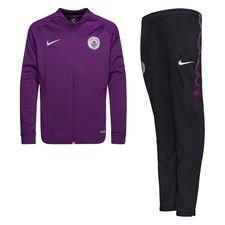 Manchester City Träningsoverall Dry Squad Knit - Lila/Svart Barn