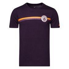 Manchester City T-Shirt Crest - Lila