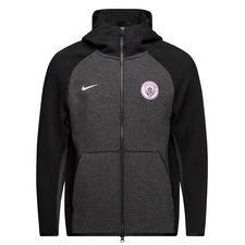 manchester city hættetrøje nsw tech fleece - sort/sølv - hættetrøjer