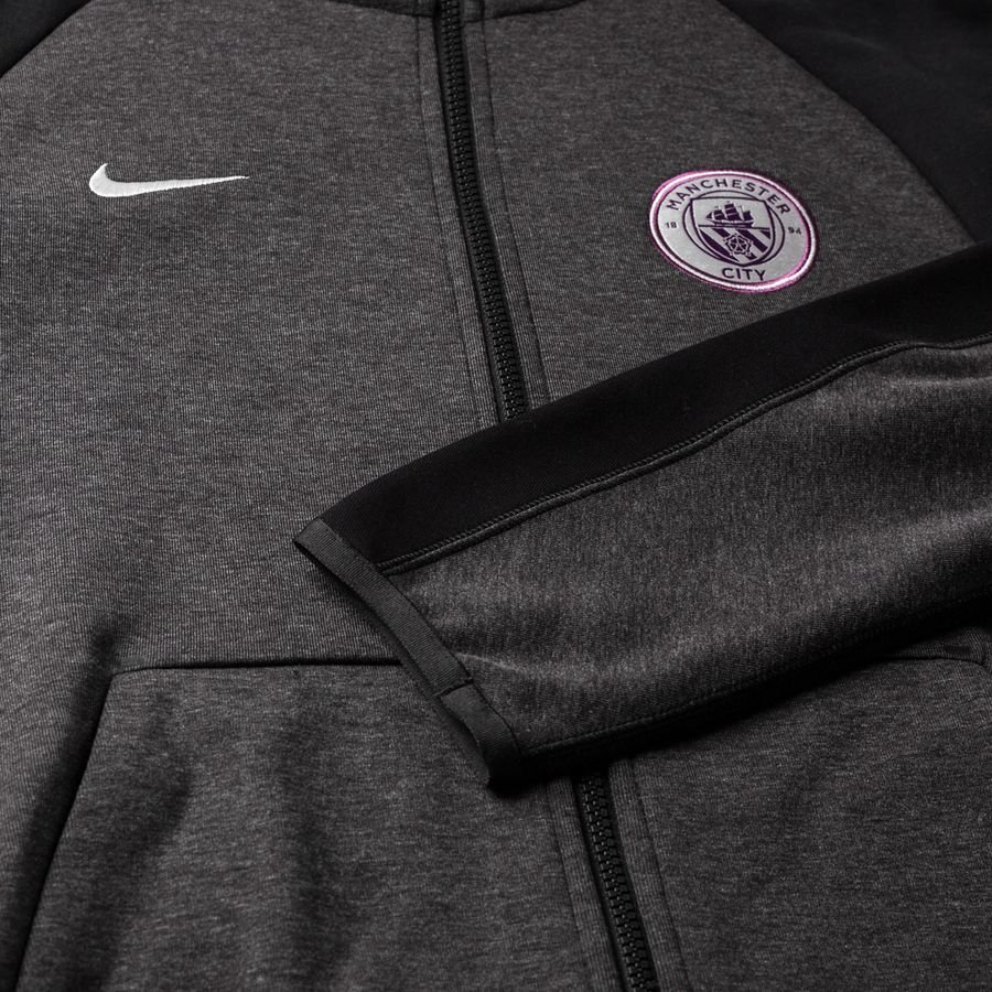 Manchester City Sweat à Capuche NSW Tech Fleece NoirArgenté