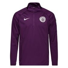 Manchester City Trainingsshirt Shield Squad Kwartrits - Paars