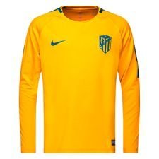 atletico madrid trænings t-shirt dry squad gx - orange/grøn l/æ - t-shirts