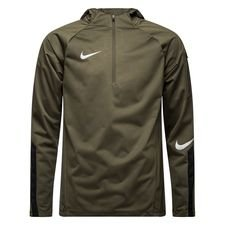 Nike Training Shirt Shield Squad 1/4 Zip - Cargo Khaki/Black