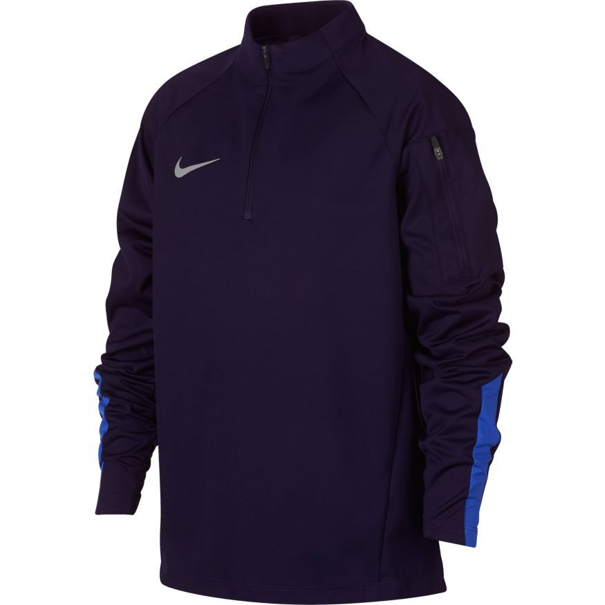 71a0d6941a1b nike training shirt shield squad 1 4 zip always forward - blackened blue hyper  ...
