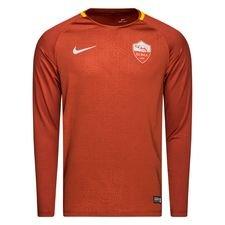 roma trænings t-shirt dry squad gx - brun/guld l/æ - træningstrøjer