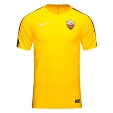 roma trænings t-shirt breathe squad - guld/brun - træningstrøjer