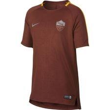 roma trænings t-shirt dry squad gx - brun/guld - træningstrøjer