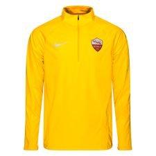 roma maillot d'entraînement shield squad fermeture éclair 1/4 - jaune doré/marron - maillots d'entraînement