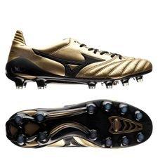 mizuno morelia neo ii made in japan fg premium gold - guld/sort - fodboldstøvler
