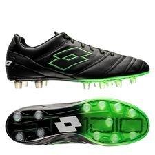lotto stadio 45 fg - sort/grøn - fodboldstøvler