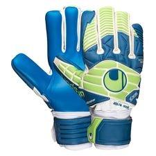 uhlsport målvaktshandske eliminator aquasoft hn windbreaker - vit/blå/grön - målvaktshandskar