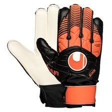 uhlsport målmandshandske soft advanced - sort/orange/hvid - målmandshandsker
