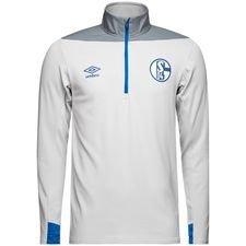 Schalke 04 Träningströja 1/4 Blixtlås - Vit/Blå Barn