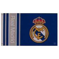 Real Madrid Flagga Logo - Blå