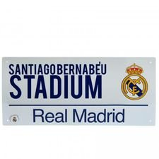 Real Madrid Skylt Santiago Bernabeu - Vit