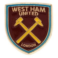 west ham united pin badge - rød - merchandise