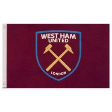 west ham united flag logo - rød - merchandise