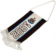 Newcastle United Mini Vimpel - Svart/Vit