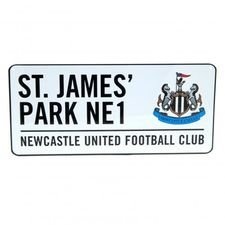 newcastle united street sign st. james park - white - merchandise