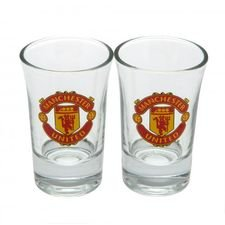 manchester united shotglas 2-pack - rød - merchandise