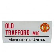 Manchester United Skylt Old Trafford - Vit