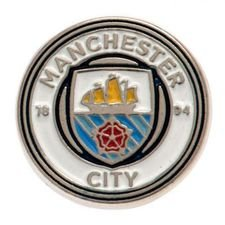 Manchester City Badge - Vit/Blå