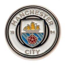 manchester city badge - hvid/blå - merchandise
