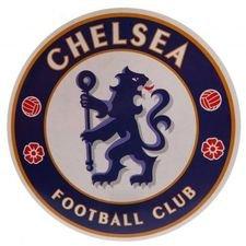 Chelsea Klistermärke Stor - Blå/Vit/Röd