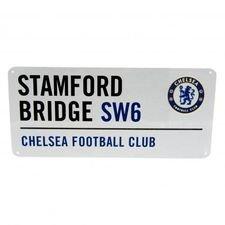 chelsea vejskilt stamford bridge - hvid - merchandise