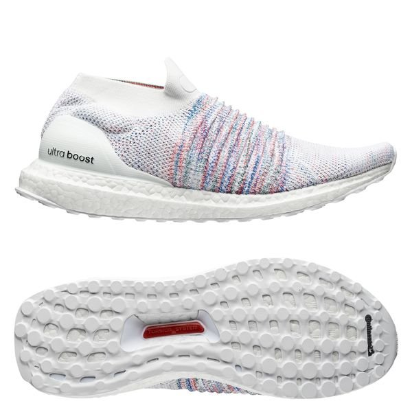 adidas Ultra Boost Laceless Footwear WhiteAction RedAction Green