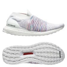 adidas Ultra Boost Laceless - Hvid/Rød/Grøn thumbnail