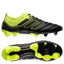 adidas copa 19.1 fg/ag exhibit - core black/solar yellow - football boots