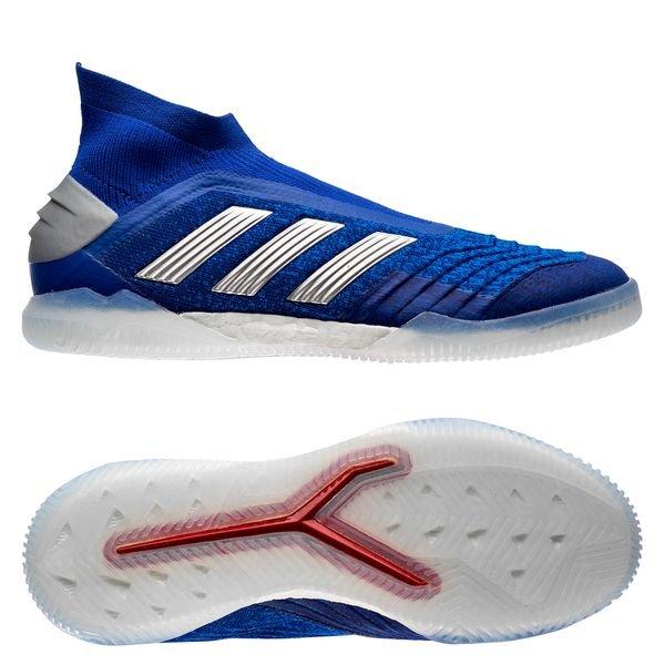 Laufschuhe Verarbeitung finden Super Qualität adidas Predator Tango 19+ IN Boost Exhibit - Blau/Silber ...