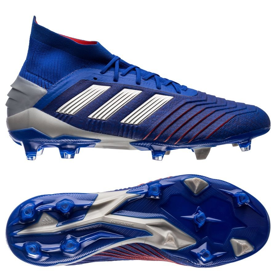 separation shoes d6a8d 87fa6 adidas predator 19.1 fgag exhibit - bold bluesilver metallic - football  boots ...