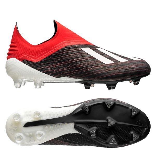 adidas X 18+ FG/AG - Sort/Hvid/Rød