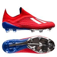 adidas x 18+ fg/ag exhibit - action red/silver metallic/bold blue - football boots