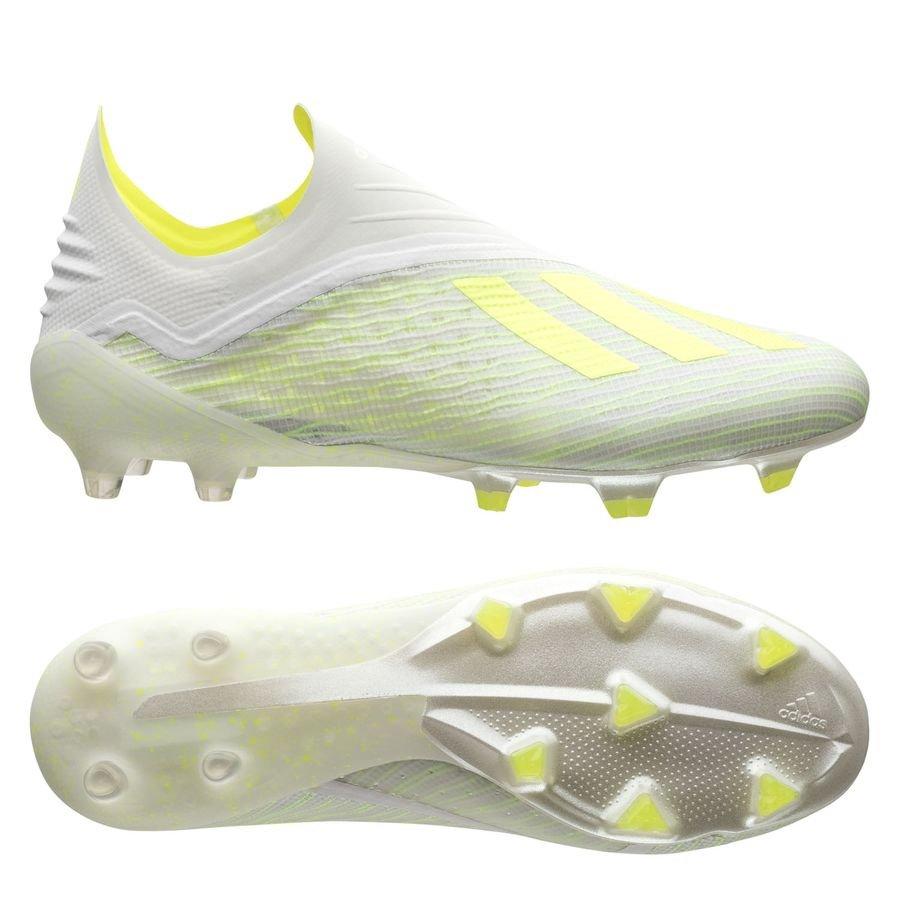 adidas X 18+ FG/AG - Hvid/Gul