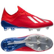 adidas X 18.1 FG/AG Exhibit - Action Red/Silver Metallic/Bold Blue