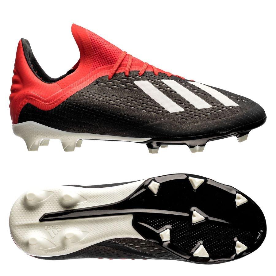 more photos 2001f c5afa adidas X 18.1 FG AG Initiator - Core Black Footwear White Action Red Kids    www.unisportstore.com