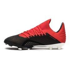 sports shoes 4a2b3 c4132 ... adidas x 18.1 fgag initiator - zwartwitrood kinderen -  voetbalschoenen ...
