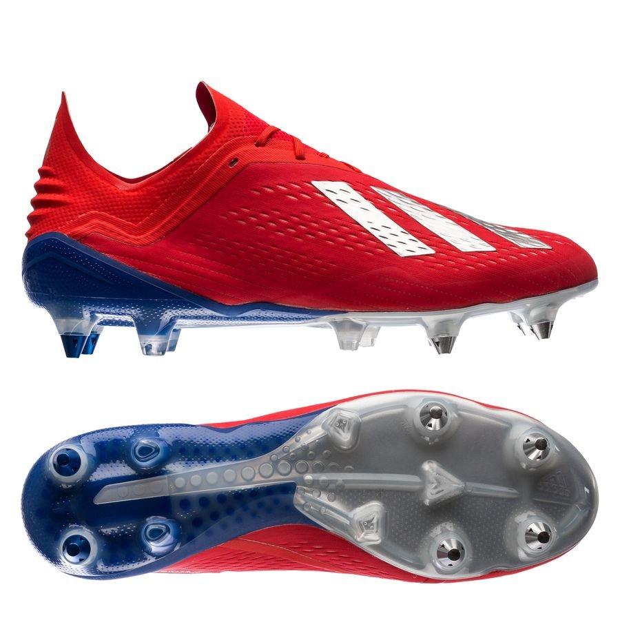 adidas X 18.1 SG - Rød/Sølv/Blå