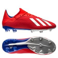 adidas X 18.2 FG/AG Exhibit - Rood/Zilver