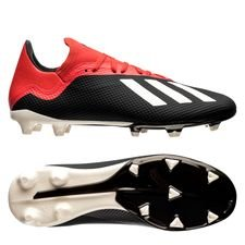 adidas X 18.3 FG/AG Initiator - Zwart/Wit/Rood