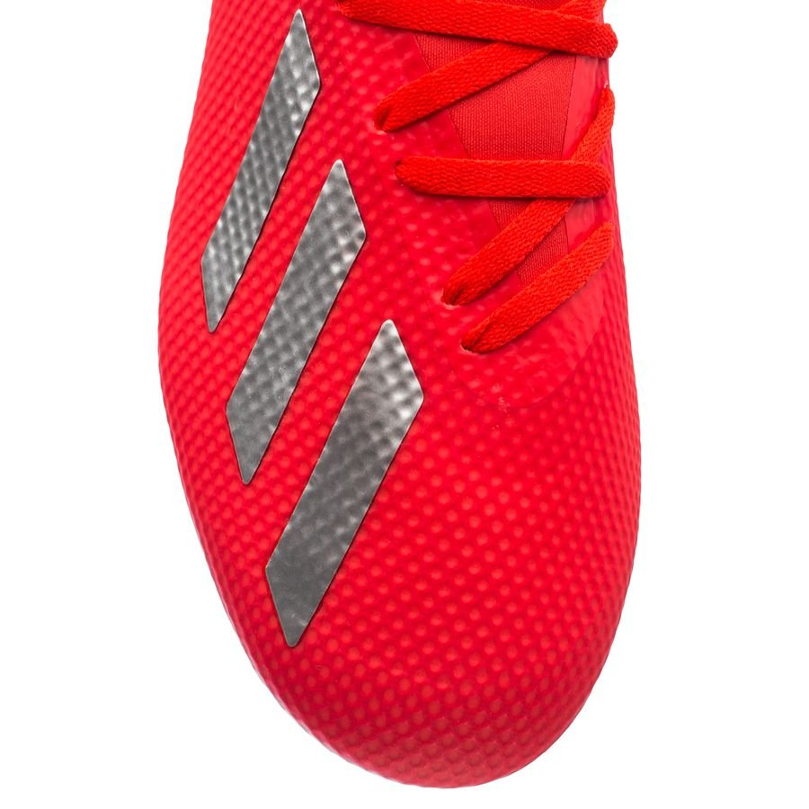 adidas x 18.3 fg/ag exhibit - action red/silver metallic/bold blue - football boots