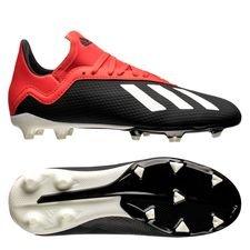 adidas x 18.3 fg/ag initiator - sort/hvid/rød børn - fodboldstøvler