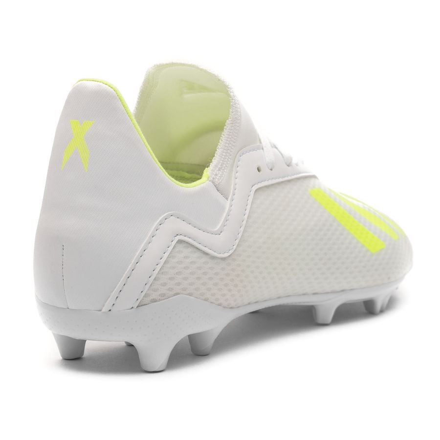Chaussures de foot adidas X 18.3 AG BlancJaune Terrain