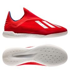 adidas x tango 18+ in boost exhibit - rouge/argenté - chaussures indoor